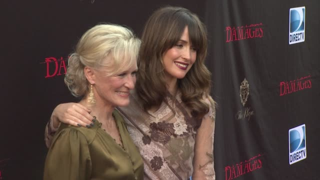 glenn close and rose byrne at the 'damages' season 4 premiere at new york ny - damages television show stock videos and b-roll footage