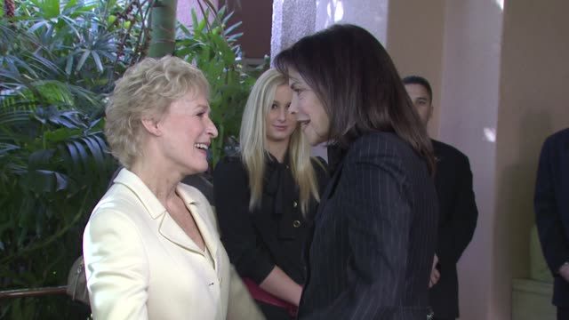 Glenn Close and Sherry Lansing at the Hollywood Reporter's Annual Women in Entertainment Breakfast at Los Angeles CA