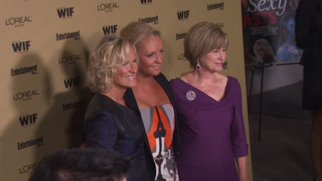 glenn close, annie stark and mary kay place at the entertainment weekly and women in film pre-emmy party at west hollywood ca. - pre emmy party stock videos & royalty-free footage