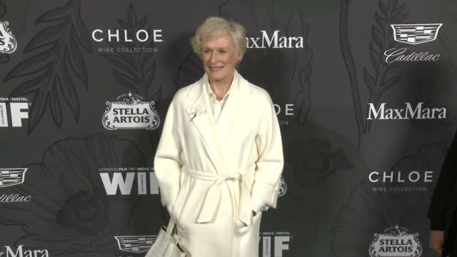 stockvideo's en b-roll-footage met glenn close at 12th annual women in film oscar nominees party presented by max mara with additional support from chloe wine collection, stella artois... - glenn close