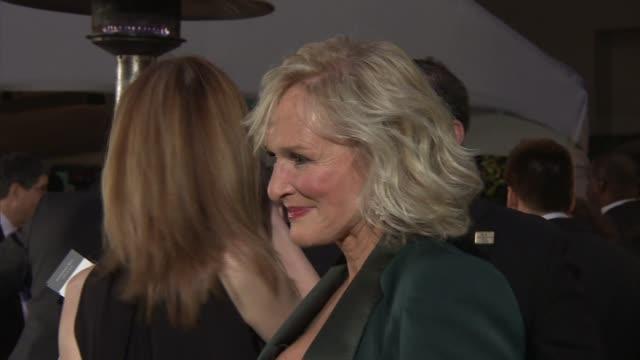 vídeos y material grabado en eventos de stock de glenn close at 2012 governors ball on 2/26/12 in hollywood, ca. - glenn close
