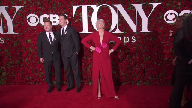 glenn close at 2016 tony awards red carpet at the beacon theatre on june 12 2016 in new york city - 70th annual tony awards stock videos and b-roll footage