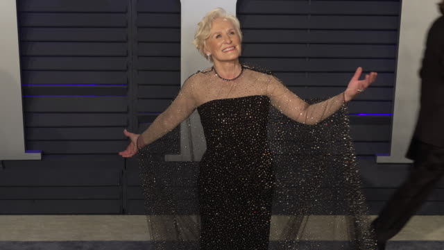 stockvideo's en b-roll-footage met glenn close at 2019 vanity fair oscar party hosted by radhika jones at wallis annenberg center for the performing arts on february 24, 2019 in... - glenn close