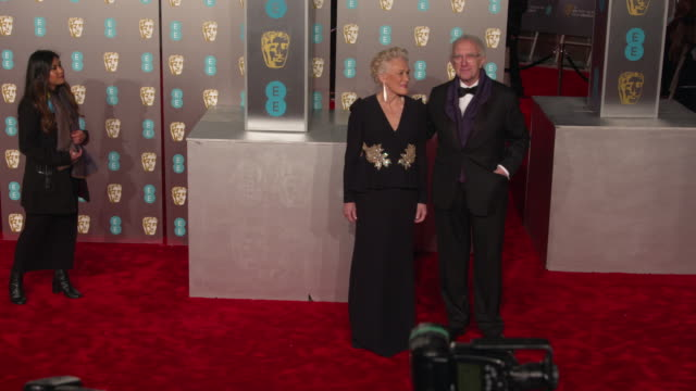 vídeos y material grabado en eventos de stock de glenn close at ee british academy film awards 2019 at royal albert hall on february 10, 2019 in london, england. - glenn close