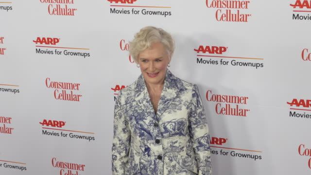 glenn close at the 18th annual movies for grownups awards at the beverly wilshire four seasons hotel on february 04, 2019 in beverly hills,... - フォーシーズンズホテル点の映像素材/bロール
