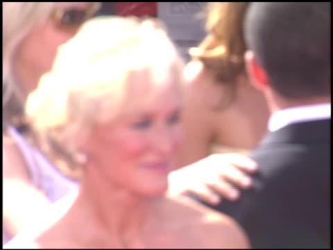stockvideo's en b-roll-footage met glenn close at the 2005 emmy awards entrances at the shrine auditorium in los angeles, california on september 18, 2005. - glenn close