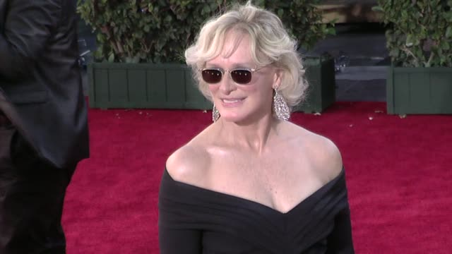 glenn close at the 61st annual primetime emmy awards - arrivals part 4 at los angeles ca. - glenn close stock videos & royalty-free footage