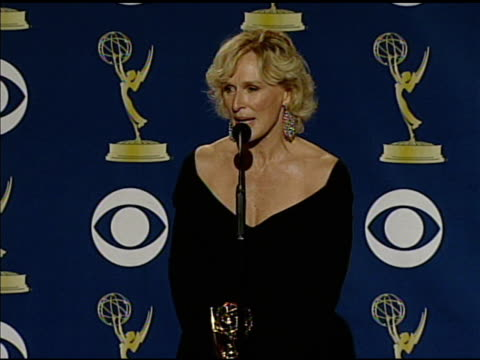 glenn close at the 61st annual primetime emmy awards - press room at los angeles ca. - annual primetime emmy awards stock-videos und b-roll-filmmaterial