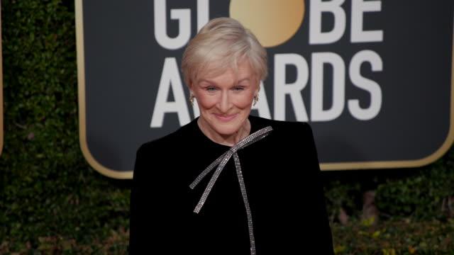glenn close at the 76th annual golden globe awards arrivals - glenn close stock videos & royalty-free footage