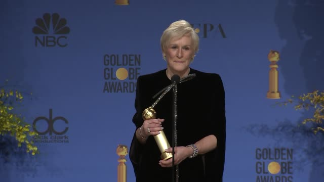 speech glenn close at the 76th annual golden globe awards press room at the beverly hilton hotel on january 06 2019 in beverly hills california - golden globe awards stock videos & royalty-free footage