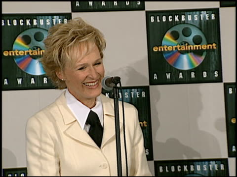 glenn close at the blockbuster awards at hollywood pantages theater in hollywood, california on march 11, 1997. - glenn close stock videos & royalty-free footage