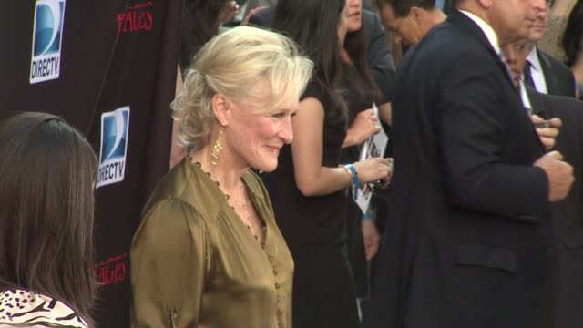 glenn close at the 'damages' season 4 premiere at new york ny - damages television show stock videos and b-roll footage