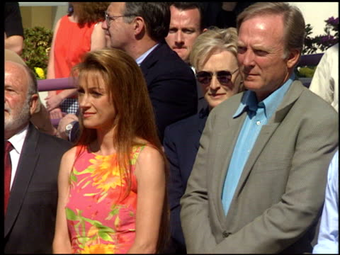 glenn close at the dediction of christopher reeve's walk of fame star at the hollywood walk of fame in hollywood, california on april 15, 1997. - glenn close stock-videos und b-roll-filmmaterial