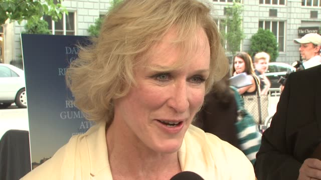 glenn close at the 'evening' new york premiere at chelsea 23 cinemas in new york, new york on june 11, 2007. - glenn close stock videos & royalty-free footage