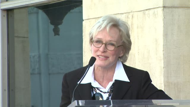 glenn close at the glenn close receives a star on the hollywood walk of fame at los angeles ca. - glenn close stock videos & royalty-free footage