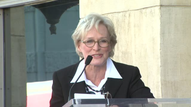 Glenn Close at the Glenn Close Receives a Star on the Hollywood Walk of Fame at Los Angeles CA