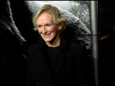 Glenn Close at the 'King Kong' New York Premiere at Loews EWalk and AMC Empire Cinemas in New York New York on December 5 2005