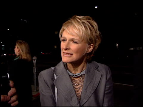 glenn close at the 'paradise road' premiere at ampas in beverly hills, california on april 4, 1997. - glenn close stock videos & royalty-free footage