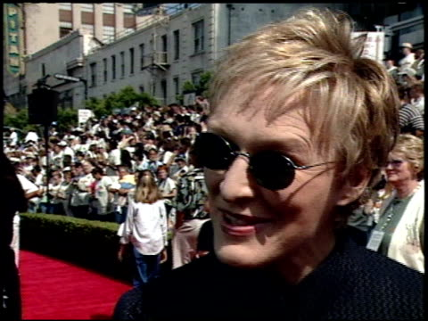 Glenn Close at the 'Tarzan' Premiere at the El Capitan Theatre in Hollywood California on June 12 1999