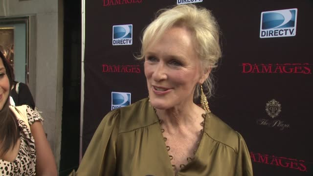glenn close discussed why audiences like the show her character and describes the relationship between her character and rose's at the 'damages'... - damages television show stock videos and b-roll footage