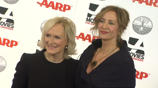 vídeos de stock, filmes e b-roll de glenn close janet mcteer at aarp magazine's 11th annual movies for grownups awards gala on 2/6/12 in beverly hills ca - janet mcteer