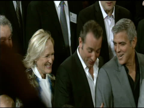 glenn close jean dujardin and george clooney at the 84th academy awards nominations luncheon in beverly hills ca on 2/6/12 - jean dujardin stock videos and b-roll footage