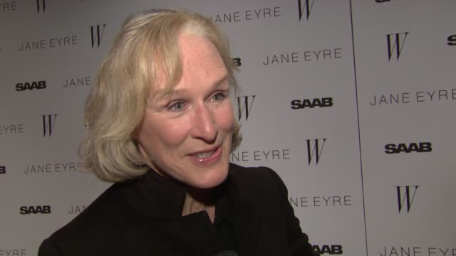 Glenn Close on working with Mia Wasikowska in her new film on how talented and wonderful she is at the 'Jane Eyre' New York Premiere Arrivals at New...