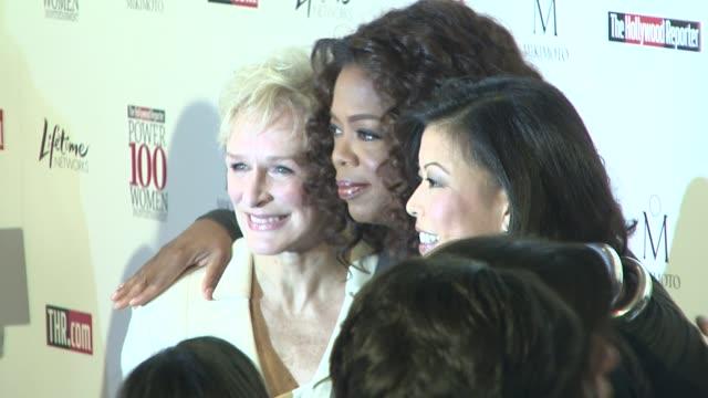 glenn close oprah winfrey at the hollywood reporter's annual women in entertainment breakfast at los angeles ca. - glenn close stock-videos und b-roll-filmmaterial