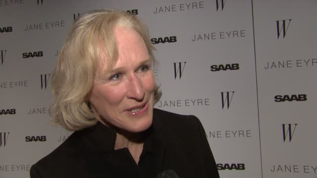 Glenn Close says she doesn't really remember Jane Eyre but that it's a classic love story so it will always interest future generations at the 'Jane...