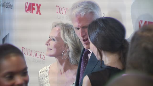 glenn close ted danson and rose byrne at the 'damages' premiere at the regal theater in new york new york on july 19 2007 - damages television show stock videos and b-roll footage