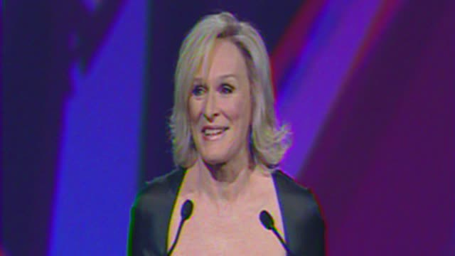 Glenn Close thanks the Palm Springs Film Festival at The 23rd Annual Palm Springs International Film Festival Awards Gala on in Palm Springs CA