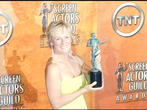 Glenn Close winner of Outstanding Female Actor in a TV Movie or Miniseries for 'The Lion in Winter' at the 2005 Screen Actors Guild SAG Awards Photo...