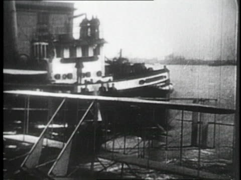glenn curtiss' hydroplane taking off / united states - glenn h. curtiss stock videos and b-roll footage