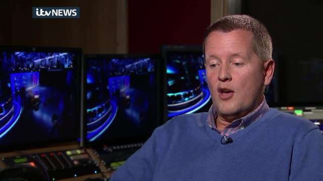 sound engineer simon daniels interview england london int simon daniels interview sot daniels setup shots with reporter along inside bt studio /... - glenn hoddle stock videos & royalty-free footage