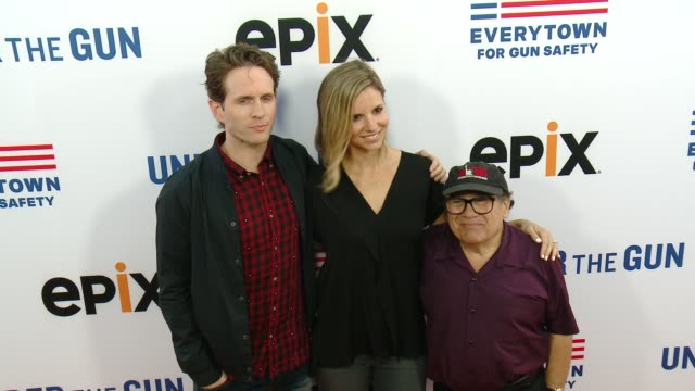 glenn howerton and danny devito at the under the gun los angeles premiere at samuel goldwyn theater on may 03 2016 in beverly hills california - samuel goldwyn theater stock videos & royalty-free footage