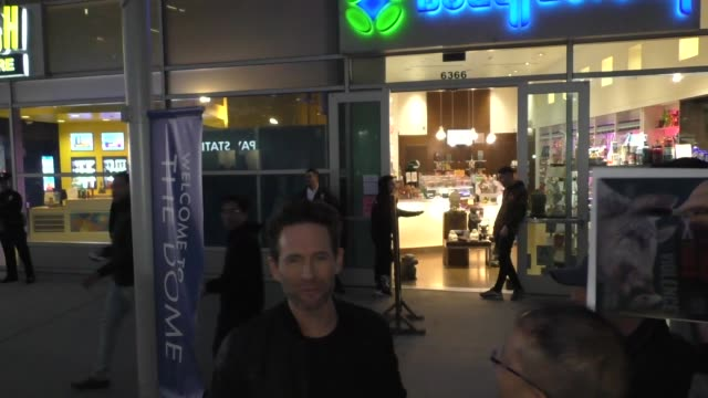 glenn howerton greets fans outside the hunt premiere at arclight cinemas in hollywood in celebrity sightings in los angeles, - arclight cinemas hollywood stock videos & royalty-free footage