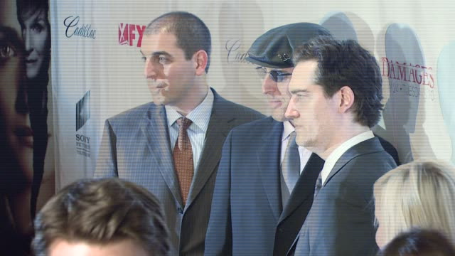 glenn kessler todd kessler and daniel zelman at the 'damages' premiere at the regal theater in new york new york on july 19 2007 - damages television show stock videos and b-roll footage