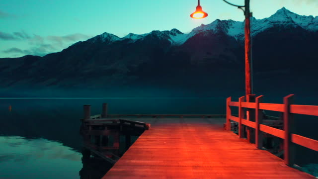 glenorchy wharf - harmony stock videos & royalty-free footage