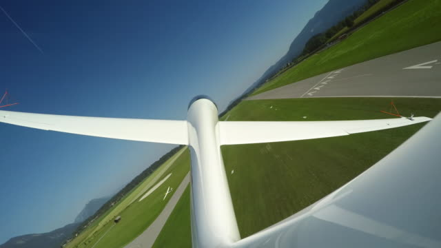 ld glider flying low and moving higher up again - glider stock videos & royalty-free footage