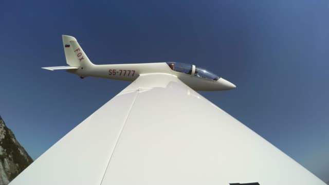 ld glider high up in the sunny sky - glider stock videos & royalty-free footage