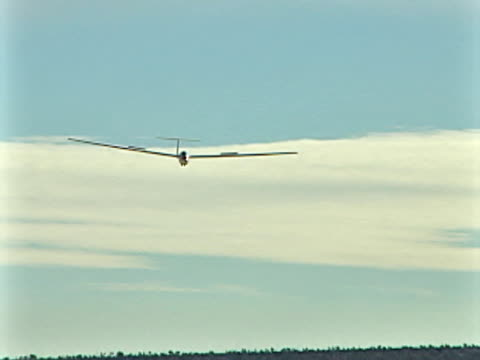 glider landing - glider stock videos & royalty-free footage