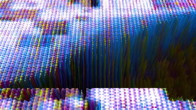 vidéos et rushes de glitch 1049: digital pixel extrusion. - pixellisation