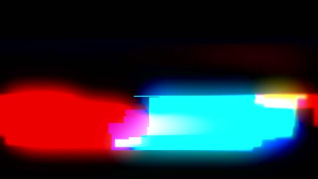 グリッチとノイズ損傷rgbラインビデオ抽象的なカラフルなループ可能な背景 - 歪曲点の映像素材/bロール