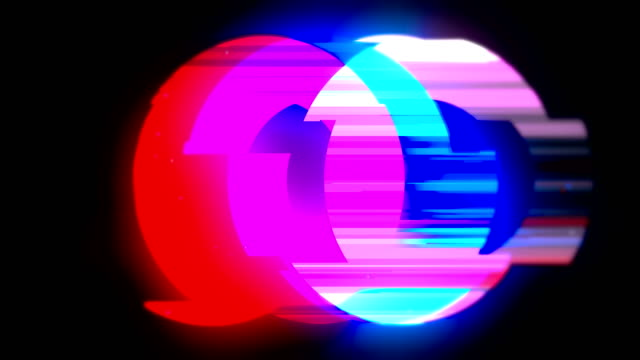 グリッチとノイズ損傷ビデオ抽象的なカラフルなループ可能な背景 - 歪んだ点の映像素材/bロール