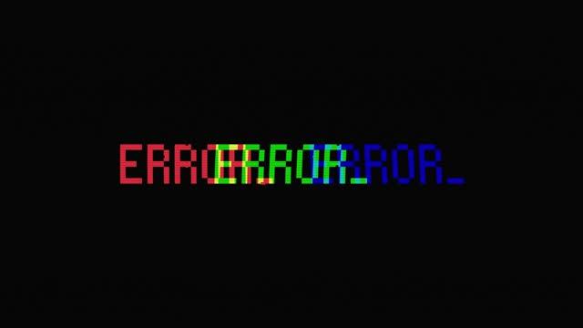 vídeos de stock e filmes b-roll de glitch error warning video - fracasso