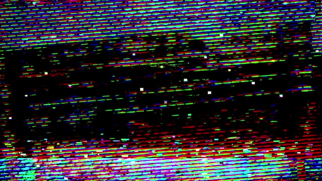 glitch tv static noise distorted signal problems - glitch technique stock videos & royalty-free footage