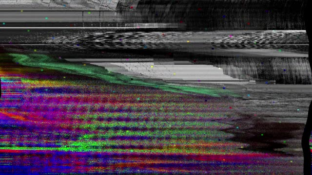 glitch tv static noise distorted signal problems - sound recording equipment stock videos & royalty-free footage