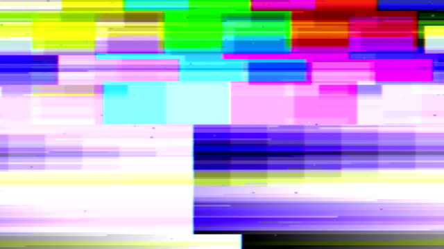 tv glitch con audio - distorto video stock e b–roll