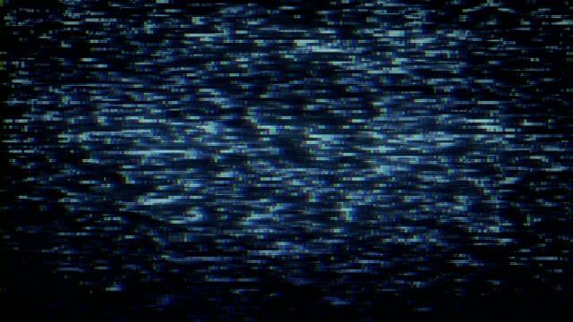 vídeos de stock e filmes b-roll de glitchy tv noise background - canal mar