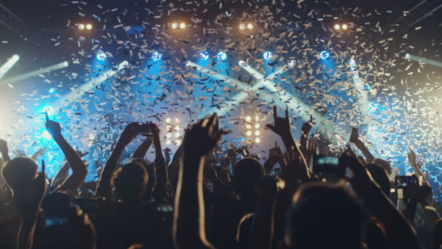glitter at concert - crowd stock videos & royalty-free footage